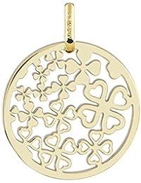 TREFLES - Médaille ajourée ronde Laïque - Or Jaune 18 carats - Diamètre: 17 mm - www.diamants-perles.com