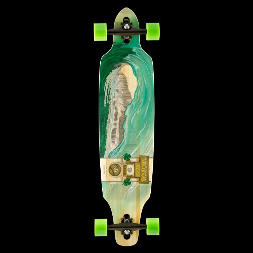 sector-9-green-wave-lookout-ii-drop-thru-bamboo-complete-downhill-longboard-skateboard-96-x-42-by-se
