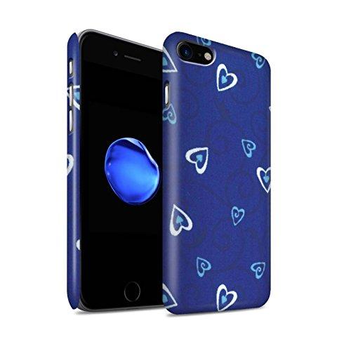STUFF4 Matte Snap-On Hülle / Case für Apple iPhone 8 / Rot/Rosa Muster / Herz/Rebe Muster Kollektion Blau/Türkis