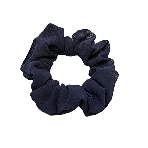Damen elastisch Seil Schleife Krawatte Pferdeschwanz Haar Band modisch Dame Scrunchie Ring rein Farbe Bobble Sport Tanz GreatestPAK,Blau (Tanz Scrunchie)