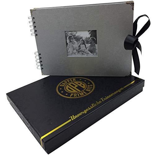 DPB Fotoalbum zum selbstgestalten   Inkl. Geschenkverpackung   Sehr hochwertiges Album   Viel Platz für kreative Ideen