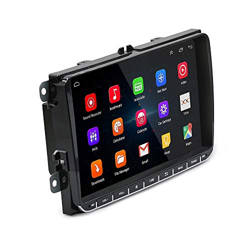 SODIAL Android 6.0 Coche 9 Pulgadas Radio Estéreo GPS Bluetooth 4.0Usb Jugador Memoria Flash para Volkswagen Passat Golf Mk5 Mk6 Jetta T5 EOS Touran Seat Sharan