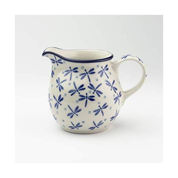 Polish Pottery Creamer Dragonfly