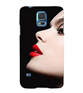 Fuson Designer Back Case Cover for Samsung Galaxy S5 Neo :: Samsung Galaxy S5 Neo G903F :: Samsung Galaxy S5 Neo G903W (Lips Red Lips Kissing Lips Red Lipstick kiss)