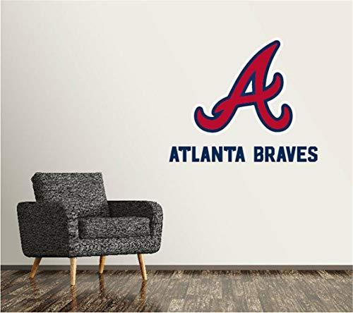 Wandtattoo Atlanta Braves Wall Decal Logo Baseball Team Zeichen Wand Dekor MLB Logo Aufkleber Vinyl