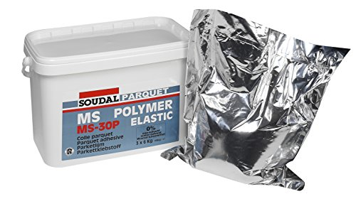 MS-30P Parkettklebstoff, Parkettkleber, hartelastischer Flächenklebstoff, Soudal 18kg (3x6kg Alusack)
