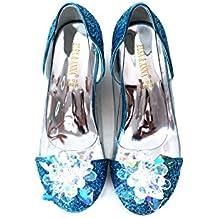 ELSA & ANNA® Última Diseño Niñas Buena Calidad Princesa Reina de Nieve Partido Zapatos Zapatos de Fiesta sandalias BLU14-SH (BLU14-SH, EURO 27-Longitud:18.0cm)