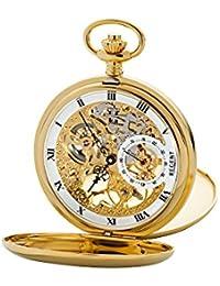 Reloj De Bolsillo doble Salto Tapa Esqueleto 53mm Regent gm de 1612