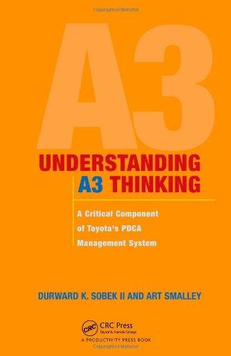 Understanding A3 Thinking: A Critical Component of Toyota's PDCA Management System par Durward K. Sobek II.