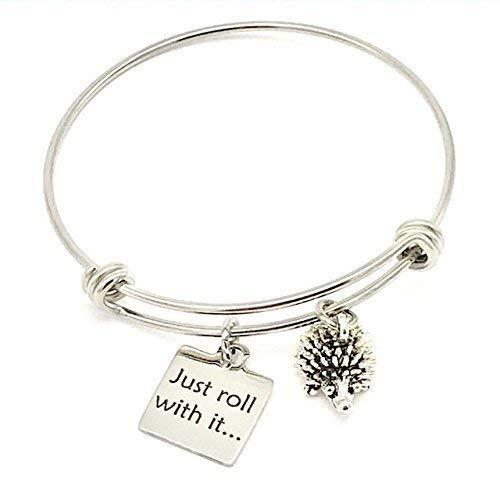 Jesse Janes Jewelry rollen einfach damit, Igel erweiterbar Armreif Silber