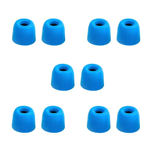 Ansemen Größe-M Gedächtnisschaum Ohreinsätze Tips für Beats X/Powerbeats3 Wireless/Powerbeats 2/urBeats3/URBEATS 2.0/URBEATS 3.0/ Diddy Beat/URBEATS 1.0,Ersatz-Ohrhörer für Kopfhörer (5 Paar,Blau)