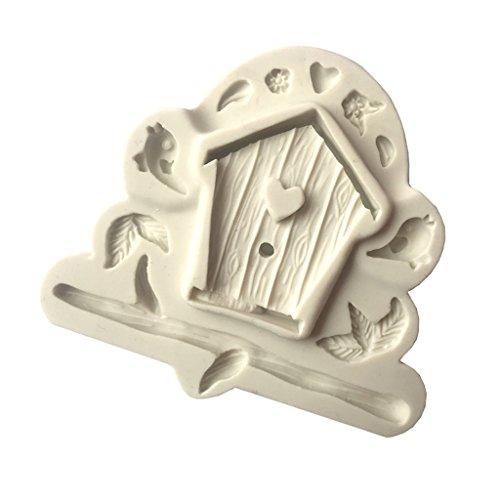 D DOLITY Silikon Molds Vogel Haus Form Schokolade Formen Eiswürfelbehälter Spielzeug für Kinder Set