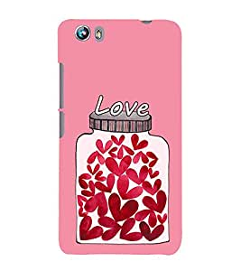 Hearts In a Jar 3D Hard Polycarbonate Designer Back Case Cover for Micromax Canvas Fire 4 A107