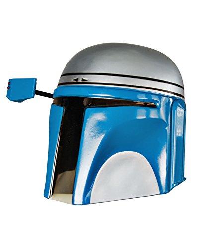 Horror-Shop Lizenzierter Sammler Jango Fett Helm aus Star Wars für Fasching (Kopfgeldjäger-kostüm-star Wars)