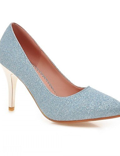 WSS 2016 Chaussures Femme-Bureau & Travail / Habillé / Décontracté / Soirée & Evénement-Bleu / Violet / Argent / Or-Talon Aiguille-Talons-Talons- silver-us5 / eu35 / uk3 / cn34