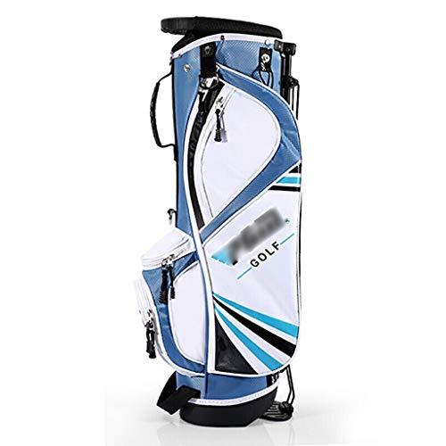 Zhimeio Kinder Golftasche mit Halterung, U-förmiger Schultergurt, leicht zu tragen, Reisen, Schultertasche, Golf, Ultra-leicht, tragbar, Standard-Paket, blau, m