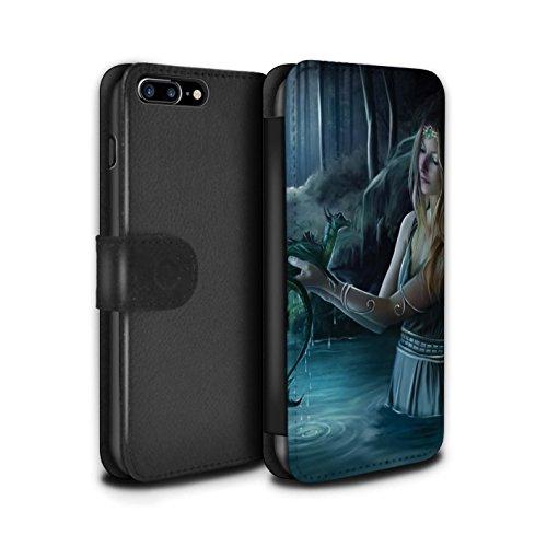 Officiel Elena Dudina Coque/Etui/Housse Cuir PU Case/Cover pour Apple iPhone 8 Plus / Eau/Bébé Design / Dragon Reptile Collection Eau/Bébé