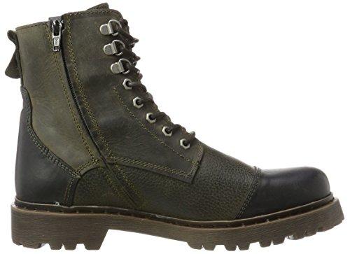 Yellow Cab Herren Stone M Biker Boots Grau (Moss)