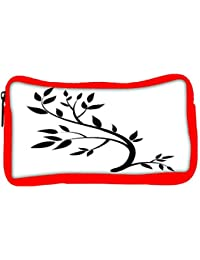 Snoogg Eco Friendly Canvas Design Element Graphic Drawing Of A Brunch With Leaves Student Pen Pencil Case Coin...
