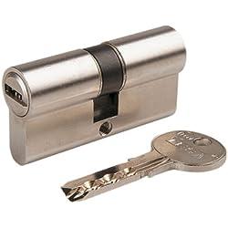 TESA 3012430 - Cilindro Tesa Seguridad T60 /30x30. Niquelado Leva Corta