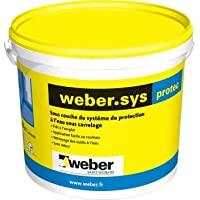 Weber Système de protection à l'eau sous carrelage Weber.sys Protec 7kg 16050007