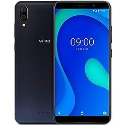 Wiko Y80 Smartphone débloqué 4G (Ecran 5, 99 Pouces - 16 Go - Micro-SIM/Nano-SIM + Emplacement Micro SD pour mémoire Extensible jusqu'à 128Go) Dark Blue