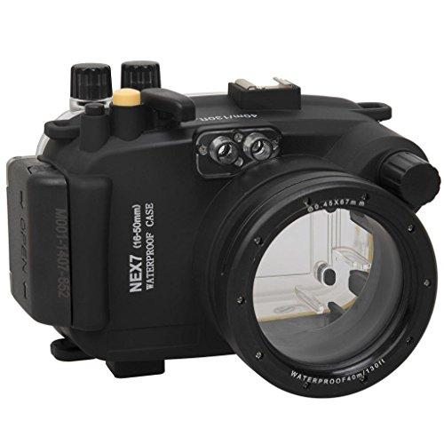 Polaroid SLR tauchfähiges, wasserdichtes Unterwasser-Gehäuse für die Sony NEX 7 Kamera mit a 16-50mm Objektiv
