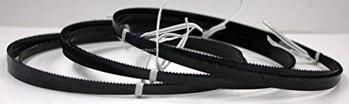 3 x Premium Sägeband Bandsägeband Bandsägeblatt Sägebänder 1520 mm x 6 mm x 0,36 mm x 14 Zähne pro Zoll , für weiche Metalle wie Bronze, Kupfer und Aluminium, geeignet für Maschinen wie : Black & Decker DN 330 / 339 u.v.m.