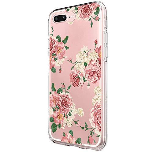 Bigbigk iPhone 7P/iPhone 8P TPU Silikon Hülle, Transparent Ultra-Dünn Soft Flex Silikon Schutzhülle Anti-Rutsch Handy Schutzhülle, Anti-Scratch TPU Case (4, iPhone 7P)