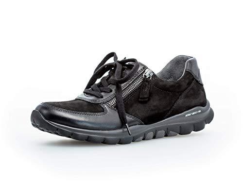 Gabor Damen Sport-Halbschuh 36.968, Frauen Low-Top Sneaker,Halbschuh,Schnürschuh,Strassenschuh,Business,Freizeit,schwarz,42 EU / 8 UK