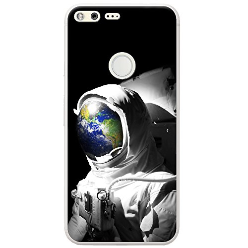 Astronautenanzug & Spiegelbild der Erde Hartschalenhülle Telefonhülle zum Aufstecken für Google Pixel