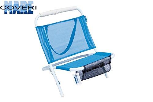 Enrico coveri spiaggina mare sedia a sdraio prendisole da portare in spiaggia e in vacanza,realizzata in acciaio, pieghevole con tracolla e sacca portariviste 57 x 47 x 51 cm (blu)