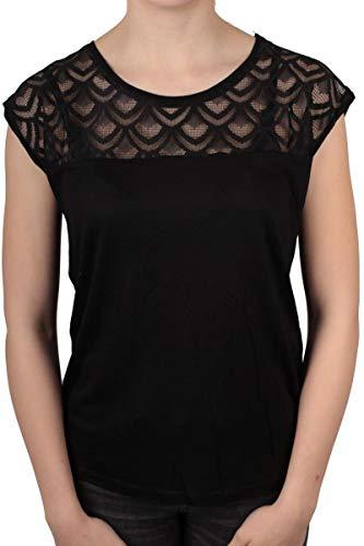 Hailys Damen T-Shirt Jersey Shirt mit Spitze Unifarben (XL, Undefined)
