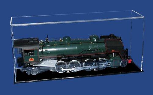 Preisvergleich Produktbild Modellhaube mit schwarzem Sockel für Modelleisenbahn Spur 1, LBH 60x17x26 cm