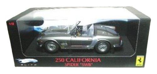 Hot Wheels 1/18 Scale - P9896 Ferrari 250 California Spider 'SWB' Metallic Grey