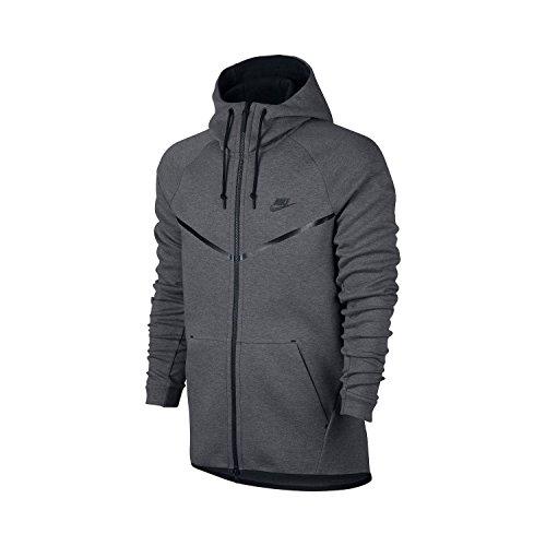 Nike Herren M Nsw Tech Fleece WR Hoodie FZ Kapuzenjacke, Karbon Heidekrautgrau/Schwarz, M