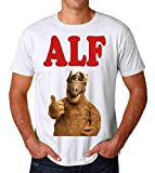 PasTomka Alf Portrait TV Series Men's T-Shirt Hombre Camiseta XX-Large