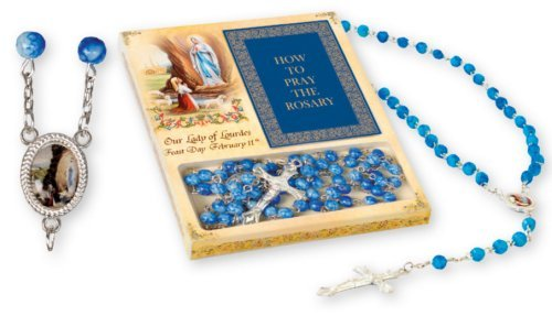 Lourdes Rosario y cómo rezar el rosario folleto y Lourdes tarjeta de oración).
