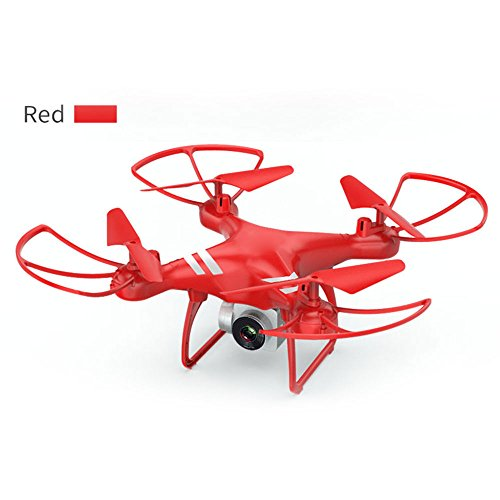 Bolange WiFi 5 megapixel Long-Life Four-Axis Aircraft Speed Adjustable Height to Keep Drone Toy Red