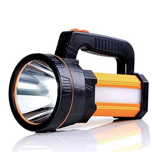 ALFLASH LED Handscheinwerfer 9000 Lumens Outdoor Led Taschenlampe Tragbar Laterne Extrem Hell USB Wiederaufladbare CREE Akku Handlampe mit Arbeitsleuchte Flashlight,5Model