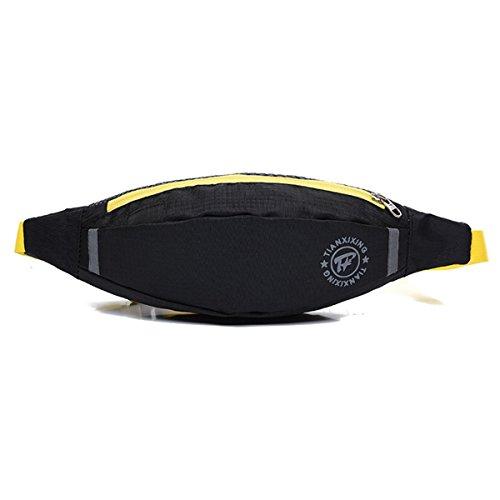 Running Taschen Fitness Riding Taille Packungen Laufen Gürtel Waistpacks für Outdoor-Aktivitäten schwarz - schwarz