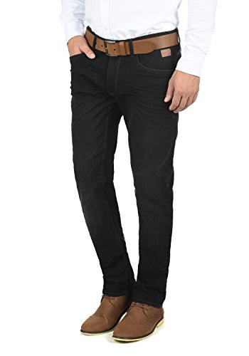BLEND Taifun Herren Jeans 5-Pocket lange Hose Denim Slim Fit Stretch, Größe:W34/34, Farbe:Denim Black (76204)