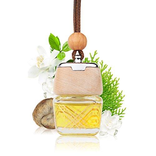 L J Auto Lufterfrischer, Autoduft, original französisches Parfumöl hergestellt bei Mane®, Auto Zubehör, Auto Duft, Leichter Duft fürs Auto, Hängefläschchen im Fahrzeug, Raumduft, 9ml (G-1202) -