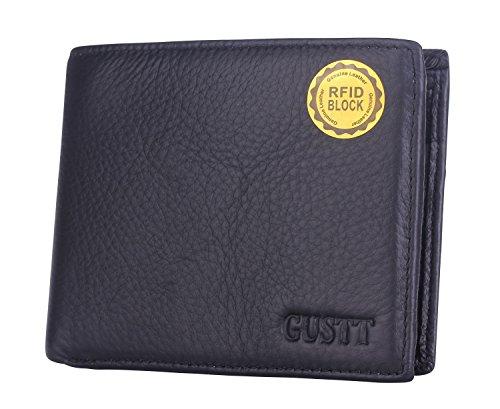 GUSTT Männer Royal RFID Blocking Leder Geldbörsen Bifold Wallet (G09) G12