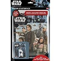 Topps R1S de stsp2–Star Wars Rogue One adhesivo Starter Pack, álbum de pegatinas y 15cromos