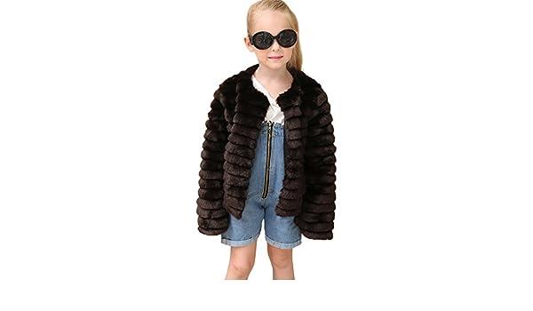 Gonxifacai Kids Baby Girls Autumn Winter Outwear Faux Fur Coat Jacket Thick Warm Clothes