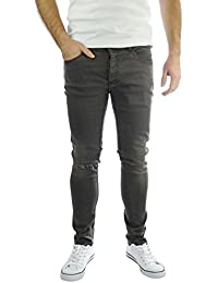Brave Soul Warren Coupe Skinny Denim Jeans Pantalons pour Homme avec Rip et aspect vieilli