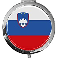"""metALUm - Extragroße Pillendose in runder Form""""Flagge Slowenien"""" preisvergleich bei billige-tabletten.eu"""