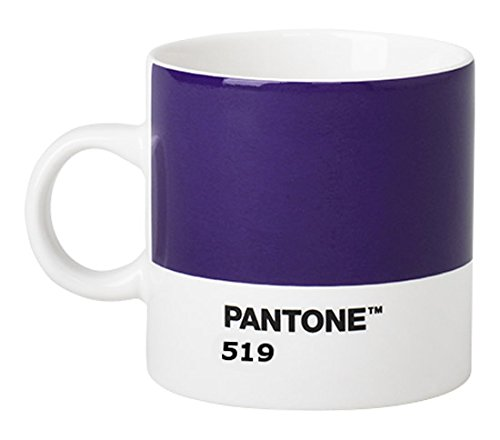 Pantone 101040600 Tasse à Espresso, Porcelaine, Porcelaine, Violet 519, 6.1 x 6.1 x 8.2 cm