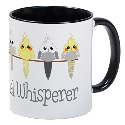 CafePress Nymphensittiche 201811p Tasse Kaffee Tee Tasse Small White/Black Inside